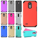 For LG Stylo 3 HARD Astronoot Hybrid Rubber Silicone Case Cover + Screen Guard