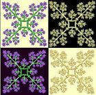 Anemone Quilt Squares 6-DESIGN 3-an Anemone Machine Embroidery single in 4 sizes
