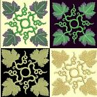 Anemone Quilt Squares 6-DESIGN 6-an Anemone Machine Embroidery single in 4 sizes