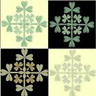 Anemone Quilt Squares 1-DESIGN 1-an Anemone Machine Embroidery single in 4 sizes