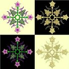 Anemone Quilt Squares 1-DESIGN 6-an Anemone Machine Embroidery single in 4 sizes