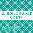 Turquoise & White Quatrefoil Pattern Adhesive Craft Vinyl or HTV for Shirts!
