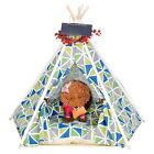 New Pet Tent Removable & Washable Indian Teepee Dog Cat House Sleeping Bed Mat