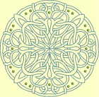 CELTIC QUILT CIRCLE SINGLES -Design 8- from Anemone Machine Embroidery-4 SIZES