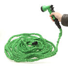 Latex  25 50 75 100 FT Garden Water Hose Expanding Flexible with Spray Nozzle US
