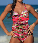 Sexy Chain Print pink One Piece MONOKINI SWIMSUIT SWIMWEAR US SIZE M L XL