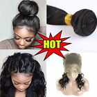Human Hair 360 Lace Frontal Closure Lace Band Frontal With 2 Bundles US HQ285