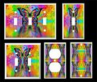 PSYCHEDELIC BUTTERFLY REFECTION #1  ~ LIGHT SWITCH COVER PLATE