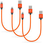 USB-C Type-C 1FT SHORT Charging Charger Cable 1 Feet [3-Pack] For Type C Phones