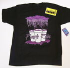 Purple Rain Drank Cup Houston Black Shirt L-3XL DTG Printed Piranha Records