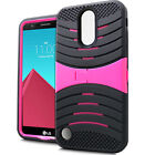 For LG Fortune M153 Hard Gel Rubber KICKSTAND Case Phone Cover Accessory