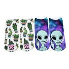 Low Ankle Socks Funny Aliens 3D Printing Sock Hosiery Printed Sock New Fashion