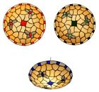 Oaks Tiffany Glass Ceiling Light Pendant Fitting Shade Lampshade Red Blue Green