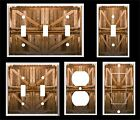 phone jack cover plate - RUSTIC COUNTRY BARN DOORS LIGHT SWITCH COVER PLATE