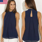 Fashion Womens Summer Vest Top Sleeveless Shirt Blouse Loose Tank Tops T-Shirt