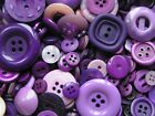 Mixed Purple Lilac Buttons colours 50g 100g or 250g button sizes colours new