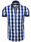BOLF Herren Freizeithemd Kurzarm Hemd Herrenhemd Slim Fit Party Mix 2B2 Casual