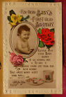Babys First Glad Birthday - Postcard  Dec 1st 1922