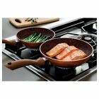 JML Copper Stone Pans Non-Stick & Hard Wearing with Wood Effect Handle