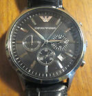 EMPORIO ARMANI CHRONOGRAPH BLACK DIAL MENS WATCH AR2447