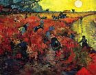 Classic Dutch art print)The Red Vineyards in Arles by Vincent Van Gogh