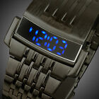 INFANTRY Mens LED Digital Wrist Watch Date Day Stainless Steel Army Sport Luxury