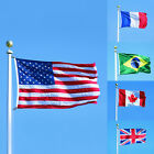 Polyester Country Banner National Flag Pennant USA Canada Brazil France UK 1*1.5