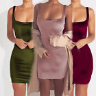 Sexy Women Ladies Velvet Bodycon Harness Dress Strappy Sun Dress Party Bandage