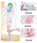 Anime ,lapin mignon,cos pyjamas de ménage,Veste, pantalon, arc