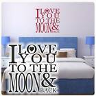 Wandtattoo I love You to the Moon and back Wandtaufkleber clickstick W4012