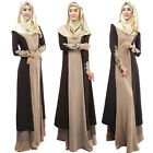 Vintage Women's Long Sleeve Maxi Islamic Arab Kaftan Abaya Muslim Cocktail Dress