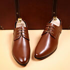 NEW Men' contracted business shoes lace-up point and recreational leather