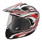 Raider Edge Dual Sport Helmet MX ATV Dirt Bike Off Road Motorcycle DOT ECE