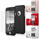 Ultra Thin Slim Hard Case Cover For Apple iPhone 6 / 7 / 8 Plus X Tempered Glass