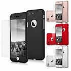 For Apple iPhone 6 / 7 / 8 Plus X XR XS Max Case Cover Tempered Glass Protector