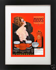 VTG 1920's Red Burlesque Sexy Pin-Up Girl Make-up Beauty Bath Bathroom Art Print