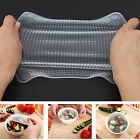 KITCHEN TOOL CLEAR SQUARE REUSABLE SILICONE FOOD WRAPPER SEAL COVER FILM MYSTERY