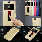 Slim Silk Leather Window View Case Cover Skin For ZTE Nubia Z7 Z9 Max Z11 Mini