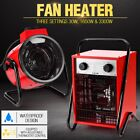 3000/3300W Electric Industrial Fan Heater Air Blower Workshop Floor Carpet Dryer