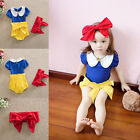 3pcs Toddler Kid Baby Girl Headband Snow White T-shirt Top +Pants Outfit Clothes