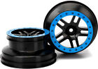 Traxxas 5884A Black Split Spoke Wheel Blue Beadlock: Front 1/10 Slash 2wd