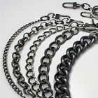 Purse chain strap Gunmetal handle shoulder crossbody handbag metal