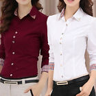 Fashion Elegant Long Sleeve Women Summer Office Lady Formal Blouse T-shirt Tops