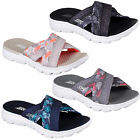 Skechers On The Go 400 Tropical Sandals Womens Memory Foam Slides Goga Flip Flop