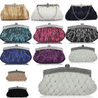 LeahWard Women's Satin Clutch Evening Bag Purse For Bridal Night Out Prom CWE004