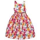 American Princess Little Girls White Pink Floral Pattern Easter Dress 2T-6X