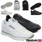 NEW REEBOK CLASSIC LEATHER MENS TRAINERS ALL SIZES BLACK & WHITE