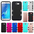 For Samsung Galaxy J7 PERX J7V IMPACT TUFF HYBRID Case Skin Cover + Screen Guard