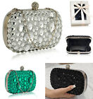 LeahWard Women's Diamante Sparkly Clutch Bag Purse For Wedding Night Out School