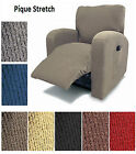 Pique Stretch Fit Furniture Chair Recliner Lazy Boy Cover Slipcover Many Colors